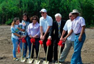 Present for the groundbreaking were Arianna Raya, Llyssa Hernandez and Julie Hernandez, new homeowners; Wyatt O'Neal with the State Employees' Credit Union Foundation; Charles Pittman, chairman of the Wilson Habitat board of directors; Aaron Phillips, construction supervisor with Hill Construction; and Ken Jones, Wilson Habitat board member and construction committee chairman.