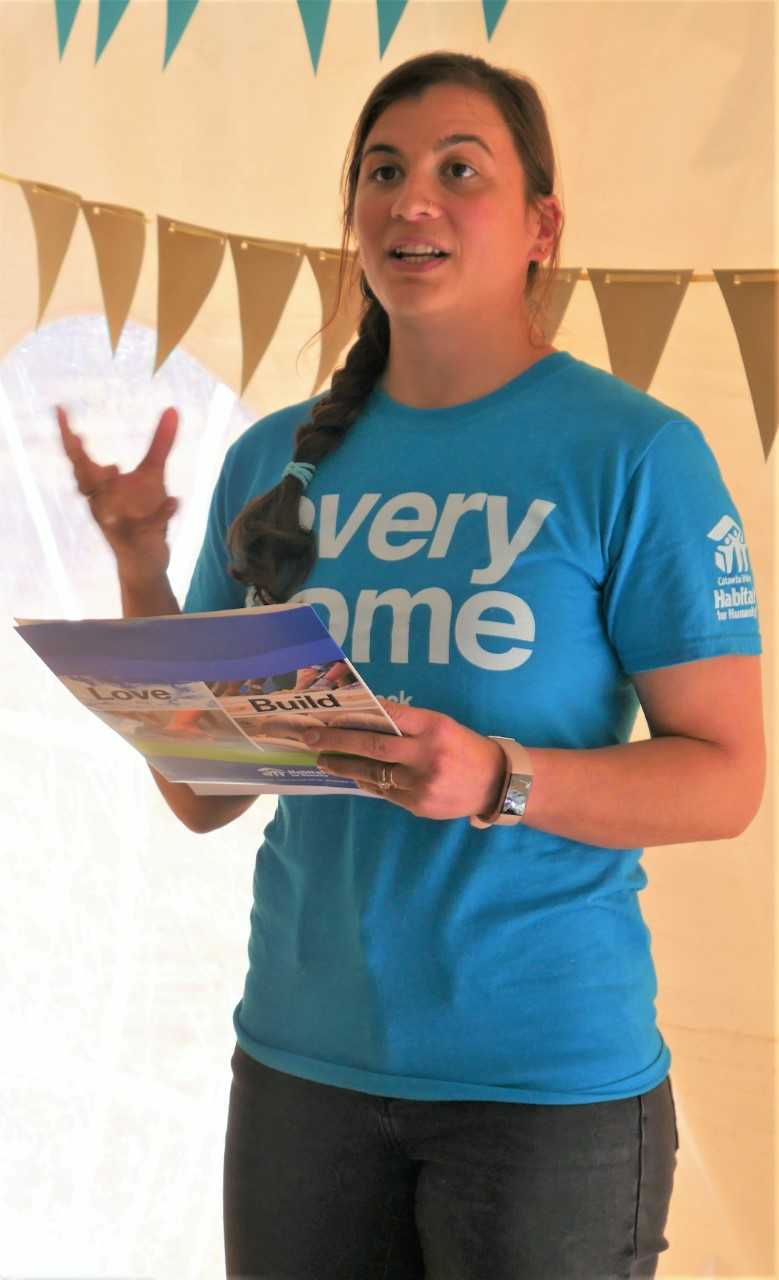 """Jenna Ross, Community Outreach coordinator for Catawba Valley Habitat for Humanity, says that recruitment of new volunteers by Habitat """"regulars"""" is essential to continuing the mission of providing quality homes for deserving families."""
